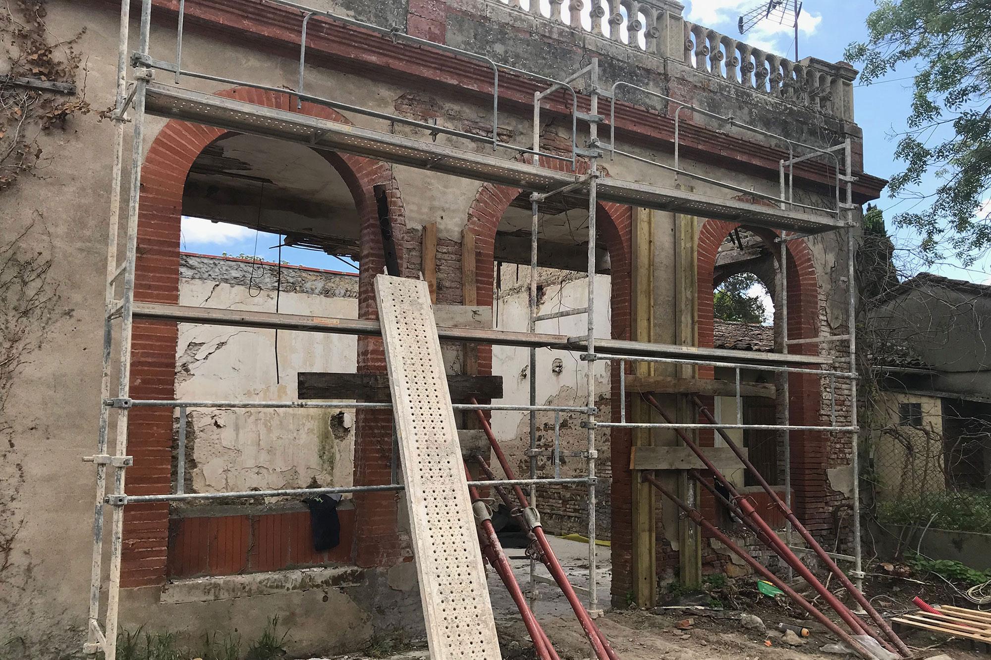 Grégoire ACED architecte Orangeraie avant travaux fenêtres cintrées