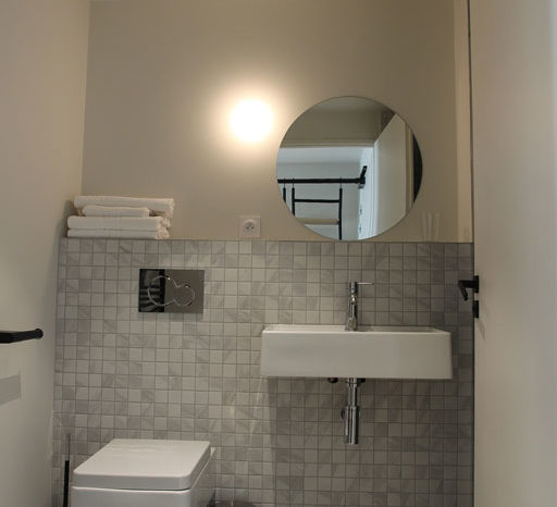 Grégoire ACED Architecte - Théâtre de la Cité - Toilettes et vasque.